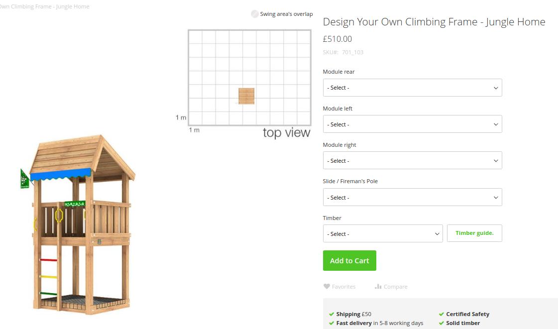 Custom design your own Jungle Gym