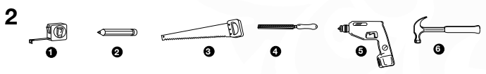 Figuur 2: Werkzeug für den Aufbau