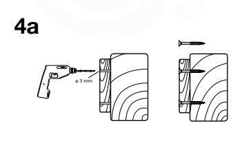 Figuur 4a: Pilot holes for wood screws